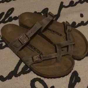 Light brown leather sandal-never been worn